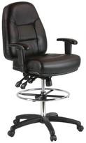 Annessia Mid-Back Ergonomic Genuine Leather Drafting Chair Ebern Designs