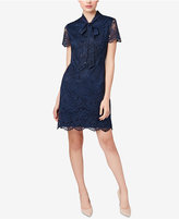 Betsey Johnson Tie-Neck Lace Sheath Dress