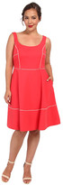 ABS by Allen Schwartz Plus Size Square Neck Ponte Dress w/ Piping