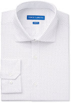Vince Camuto Men's Slim-Fit Black/Grey Pindot Print Dress Shirt