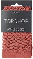 Topshop Large Fishnet Ankle Socks