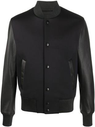 Givenchy Contrast-Sleeve Bomber Jacket