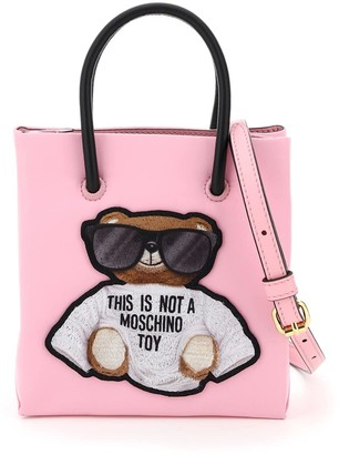 Moschino TEDDY BEAR MINI TOTE BAG OS Pink, Black Technical