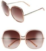 Chloé Women's 62Mm Oversized Gradient Lens Square Sunglasses - Brown