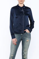 Moon Collection Navy Face Blouse