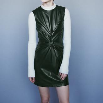 Maje Sleeveless knotted leather dress