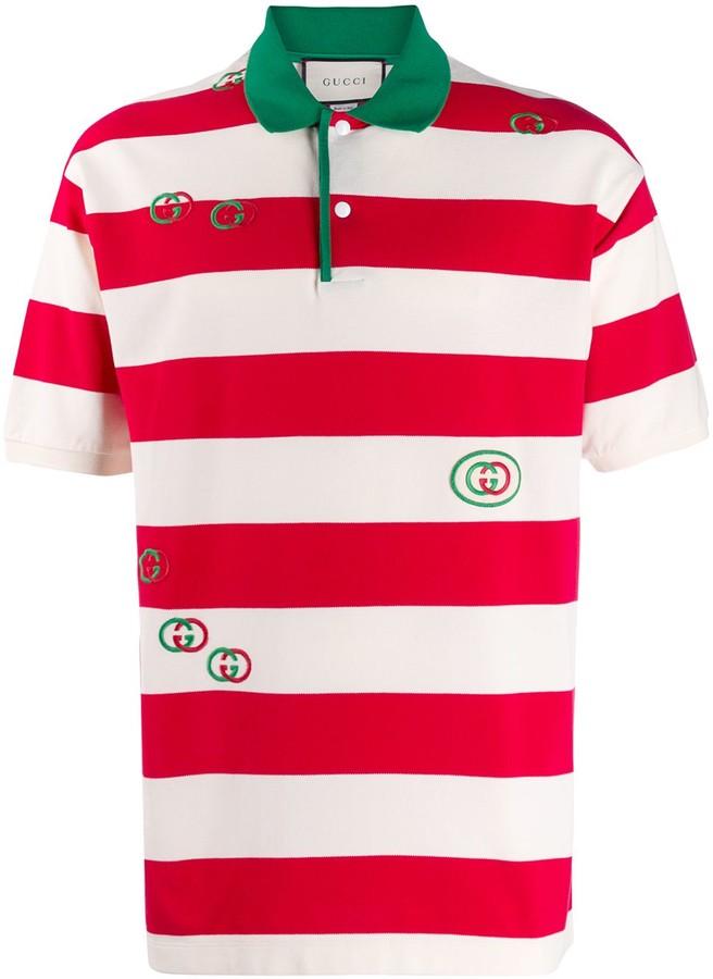 Gucci striped polo shirt