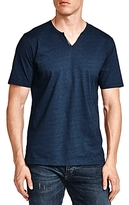 The Kooples Notched Faux-Leather Trim Tee