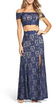 Sequin Hearts Women's Two-Piece Gown