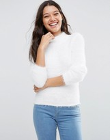 Asos Sweater with High Neck in Fluffy Yarn