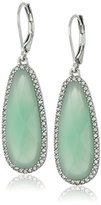 "lonna & lilly Classics"" Silver Tone Green Drop Earrings"