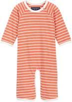 Toobydoo Skate Orange Striped Jumpsuit (Baby Boys)