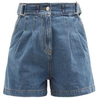 MSGM Adjustable-waist Denim Shorts - Denim