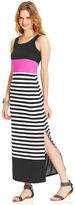 Planet Gold Juniors' Striped Maxi Dress