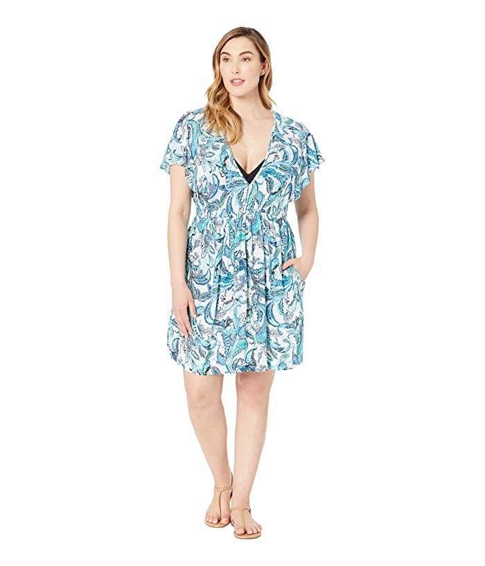 5f8f4c9596 Plus Size Swim Cover Up - ShopStyle