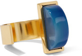 Paula Mendoza Blau Gold-plated Quartz Ring - one size