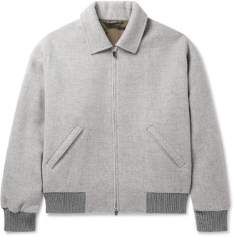 Fear Of God For Ermenegildo Zegna Logo-Appliqued Wool Bomber Jacket