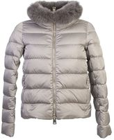 Herno Nylon Padded Jacket With Fur Detail