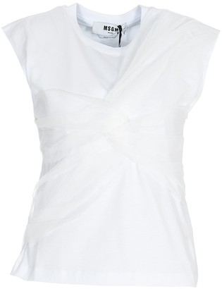 MSGM Knot Detail Sleeveless T-Shirt