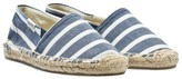 Soludos Blue and White Stripe Espadrilles