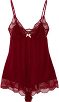 Eberjey Estelle stretch-lace and jersey playsuit