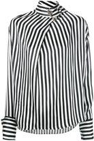 Marques Almeida Marques'almeida - buckled high neck blouse - women - Silk - S