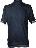 Kolor turtle neck T-shirt - men - Nylon/Wool - 3