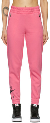 Nike Pink Cotton Fleece Lounge Pants