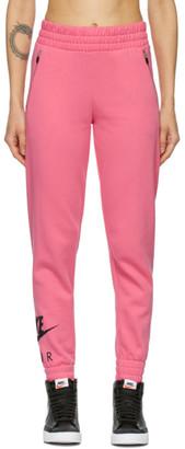 Nike Pink Cotton Fleece Lounge Pants