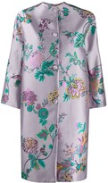 Etro floral single breasted coat