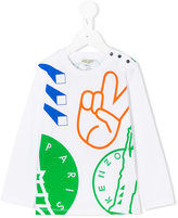 Kenzo multi logo print top - kids - Cotton - 4 yrs