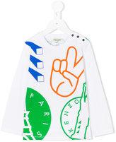 Kenzo multi logo print top