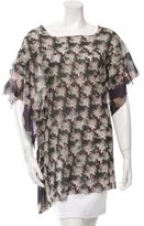 Andrea Incontri Printed Sheer Tunic