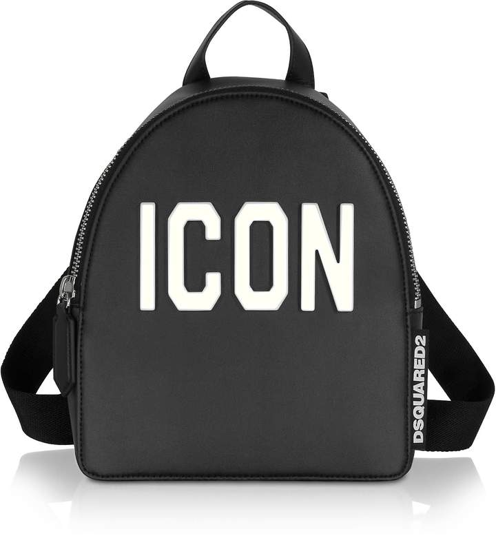8c99e853019 Black Leather And Plexy Icon Womens Backpack