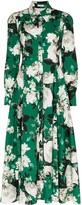 Erdem Josianna floral print flared shirt dress