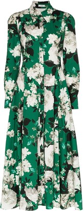 Erdem Josianna floral print flared shirt dress