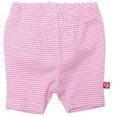 Zutano Candy Stripe Bike Short in Pink/White