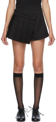 SHUSHU/TONG SSENSE Exclusive Black Pleats Shorts