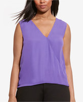 Lauren Ralph Lauren Plus Size Georgette Sleeveless Blouse