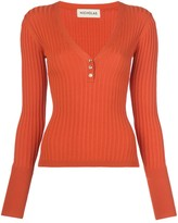 Nicholas Ribbed Jersey Long-Sleeve Top