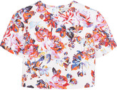 Mary Katrantzou Bree cropped printed cotton-jacquard top