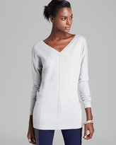 Aqua Tunic - Double V Long Sleeve