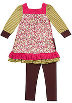 Rare Editions 2T-6X Mixed-Print Dress & Leggings Set