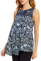 Alex Marie Elise Printed Asymmetrical Blouse