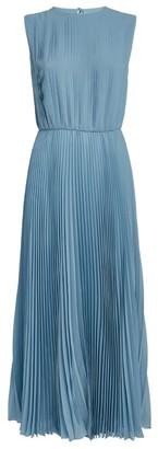 Emilio Pucci Pleated Silk Midi Dress