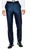Jf J.Ferrar JF Blue Luster Herringbone Suit Pants - Slim Fit