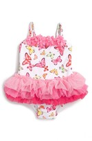 Little Me Infant Girl's Butterfly One-Piece Tutu Swimsuit