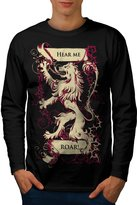 Hear Me Roar Lion Rampant Flag Men NEW XL Long Sleeve | Wellcoda
