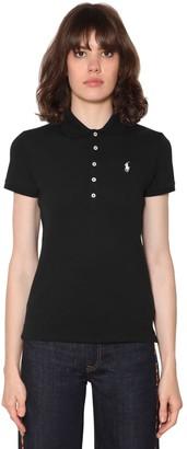 Polo Ralph Lauren Logo Detail Cotton Pique Polo Shirt