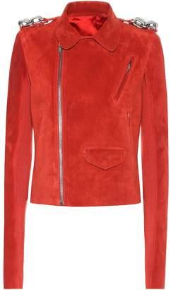 Rick Owens Suede biker jacket